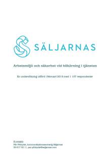 Säljarnas undersökning Arbetsmiljö och säkerhet vid bilkörning i tjänsten