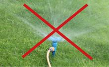 Bevattningsförbud införs i Vellinge kommun