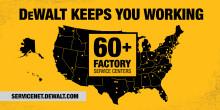 DEWALT® Celebrates Centennial of Factory Service Centers
