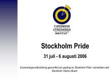 Rapport: Stockholm Pride 2006