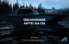 Nästa generations hyttbåt från Anytec med utombordare  – Anytec 868 CAB