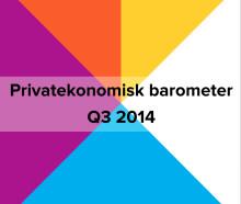 Privatekonomisk barometer Q3 2014