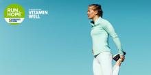 Spring tillsammans med Vitamin Well i kampen mot barncancer