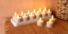 Återuppladdningsbara värmeljus - Brandsäkert och praktiskt