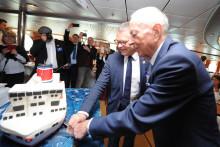 100-tal inbjudna firade linjen Göteborg-Kiels 50-årsdag