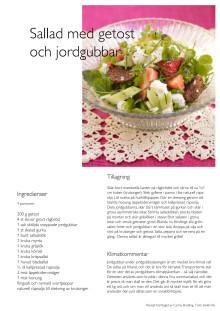 Sallad med getost och jordgubbar
