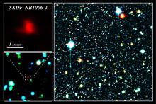 Syre hittad på rekordavstånd i rymden