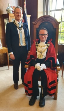 Prestwich councillor Tim Pickstone is the new Mayor of Bury