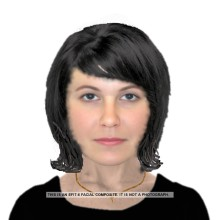 Can you help us identify the woman in this E-fit?
