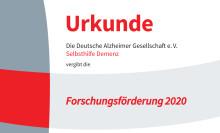 Deutsche Alzheimer Gesellschaft schreibt ihre Forschungsförderung für 2020 aus