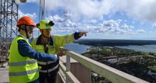 Klimatomställningen viktig fråga när näringsministern besökte Cementa i Slite