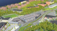 Veidekke gör mark- och betongarbete för ny spåvagnsdepå på Lidingö