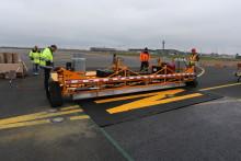 Første lufthavn i Europa: Tester ny rullebanemerking