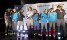 Nyblivna världsrekordinnehavaren Team AkzoNobel  till Göteborg som trea i Volvo Ocean Race