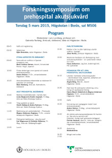 Program Prehospitalt forskningssymposium