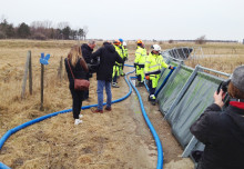 Lyckat test av tillfälligt skydd mot höga vattennivåer