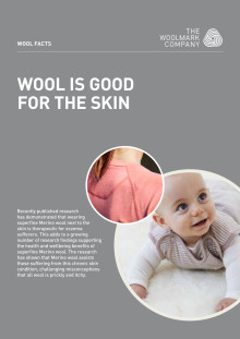Wool is good for skin