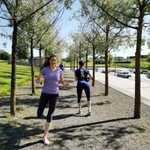 SATS tilbyr utetrening for medlemmer på Bislett Stadion