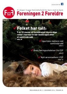Foreningen 2 Foreldre medlemsblad nr 3-2016