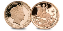 THE LONDON MINT OFFICE ANNOUNCES A NEW REMASTERED VERSION OF PISTRUCCI'S ORIGINAL COIN DESIGN FIRST SEEN ON THE MODERN SOVEREIGN 200 YEARS AGO DESIGNED BY ANGELA PISTRUCCI - DESCENDANT OF THE ORIGINAL ARTIST