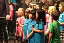 Vårkonsert med hundratals barn
