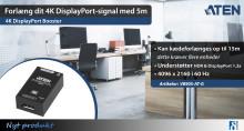 Forlæng dit 4K DisplayPort-signal med 5m