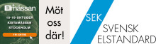 Den 18 och 19 oktober möter du SEK Svensk Elstandard i monter L:06 på Elmässan i Kista, Stockholm!