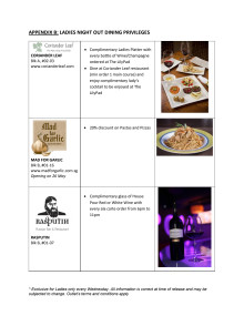 Clarke Quay Ladies Night Out Dining Privileges