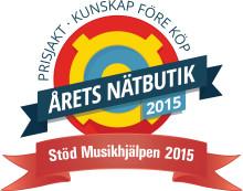 Prisjakt – Vinnare av Årets Nätbutik 2015