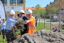 Nu är bygget på gång för HSBs bostadsrättsförening Panorama i Berga Park i Linköping!