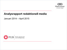 Analysrapport redaktionell media januari 2014 – april 2015