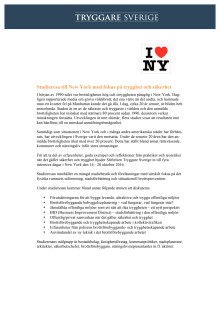 Inbjudan till studieresa New York 16-20/10, 2016