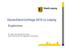 Deutschland-Umfrage 2018 - Ergebnisse für Leipzig
