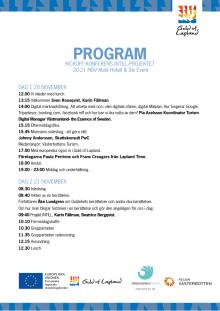 Program för Gold of Laplands Kickoff konferens i projekt INTILL