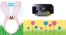 Pääsiäiskortti siirtokuvasta ja muita luovia ideoita pääsiäisaskarteluun