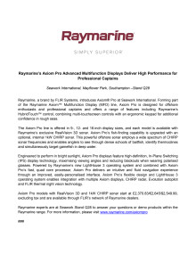 Raymarine: Raymarine's Axiom Pro Advanced Multifunction Displays Deliver High Performance for Professional Captains