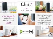 Clint Asgard™ høyttalerserie - nå oppdatert med Spotify Connect til FULLT MULTIROM