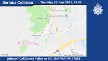 Appeal for witnesses following Bagshot collision