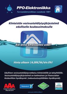 PPO 868 -vesivuotohälytysjärjestelmä palvelupakettina ja case-esimerkki
