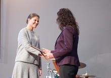 Maria Faresjö tog emot pris från Kronprinsessan Victoria