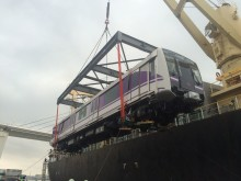Purple Line Project in Bangkok Starts Delivery of Rolling Stock from Japan