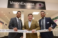 Local MP Andrew Bridgen joins Vision Express at Tesco to officially open its new optical store in Ashby-de-la-Zouch