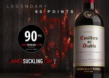 James Suckling ger 90 poäng till Casillero del Diablo Cabernet Sauvignon