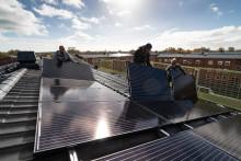 Sänkta boendekostnader med största solcellsanläggningen hittills
