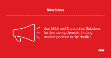 Aon M&A and Transaction Solutions further strengthens its leading market position