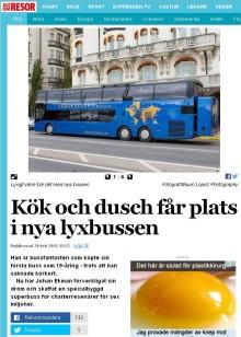 Allt om Resor, Expressen, provar på 1st Bussness Class