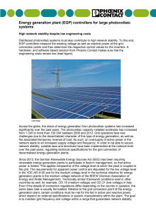 Energy generation plant (EGP) controllers for large photovoltaic systems