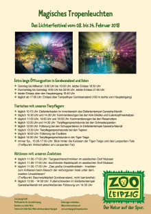 Programm Magisches Tropenleuchten Zoo Leipzig