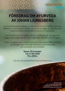 Föredrag om Ayurveda