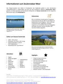 Thüringer Wassertourismus: Informationen zum Zeulenrodaer Meer